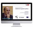 Luis Herrera habla sobre Gestión de la Calidad en la Gestión Pública junto al CLAD y la UCA de El Salvador